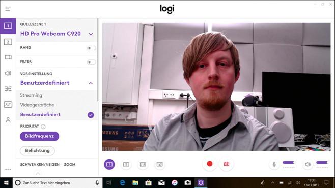 Logitech Capture im Detail©COMPUTER BILD, Logitech, Microsoft