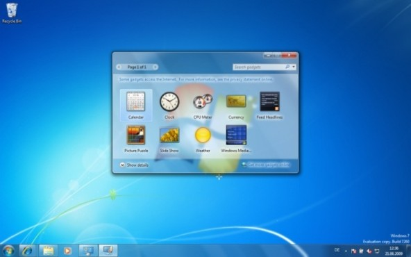 Windows 7: Mini-Anwendungen