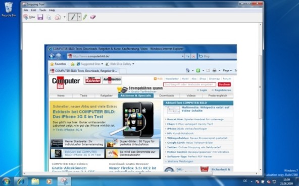 Windows 7: Snipping Tool
