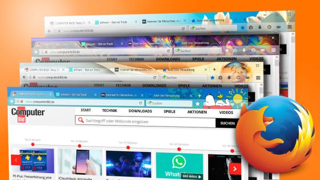 Die beliebtesten Themes für Firefox©Mozilla
