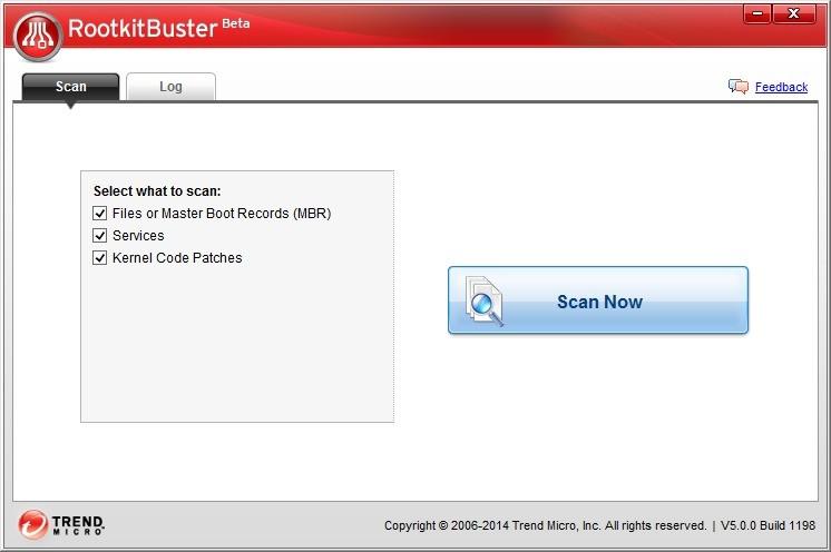 Screenshot 1 - Trend Micro RootkitBuster