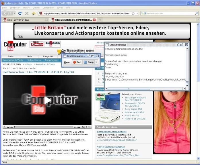Screenshot 1 - Krut Computer Recording
