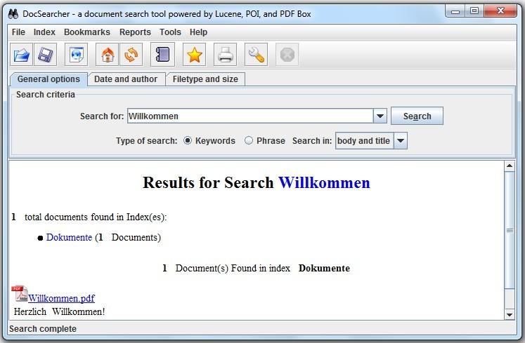 Screenshot 1 - DocSearcher