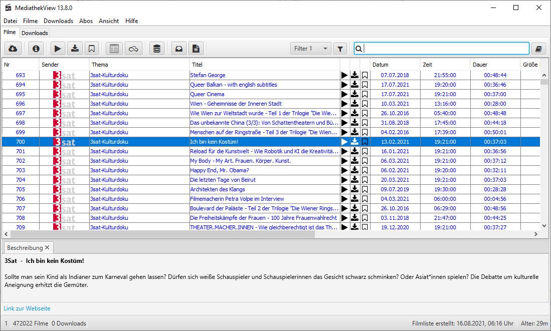 Screenshot 1 - MediathekView