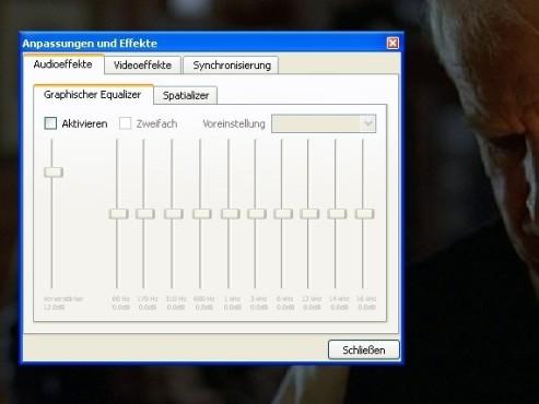 VLC Media Player: Equalizer