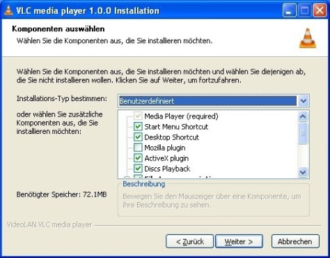 VLC Media Player: Elemente