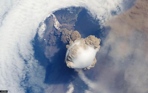 Der Vulkan Sarychev - von NASA ©NASA