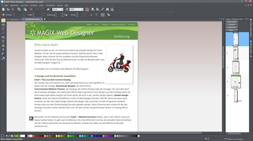 Screenshot 1 - Magix Web Designer