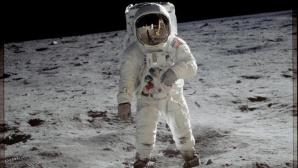 Astronaut Buzz Aldrin auf dem Mond.©Neil Armstrong/NASA/dpa