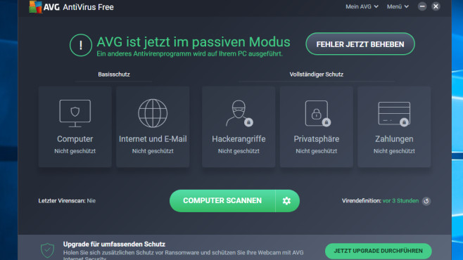 AVG Anti-Virus Free © COMPUTER BILD