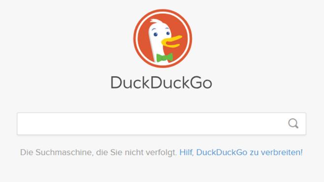 Anonym suchen: DuckDuckGo ©COMPUTER BILD