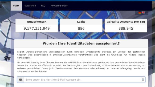 Gehackte Webkonten entdecken: HPI Identity Leak Checker ©COMPUTER BILD