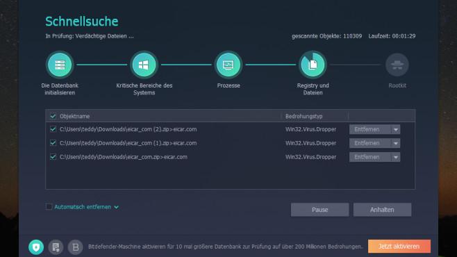 Malware löschen, Einstellungen versiegeln: IObit Malware Fighter Free ©COMPUTER BILD