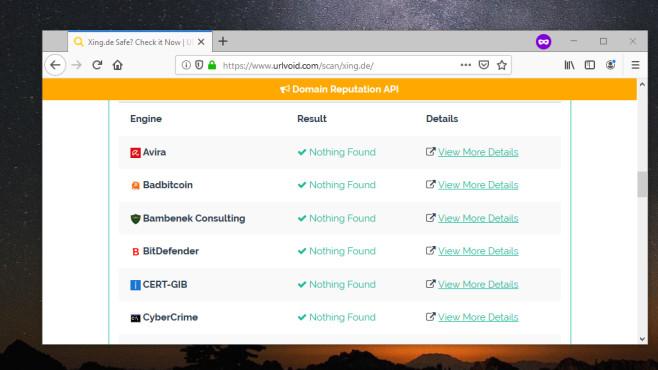 Webseiten-Sicherheit prüfen: URLVoid ©COMPUTER BILD