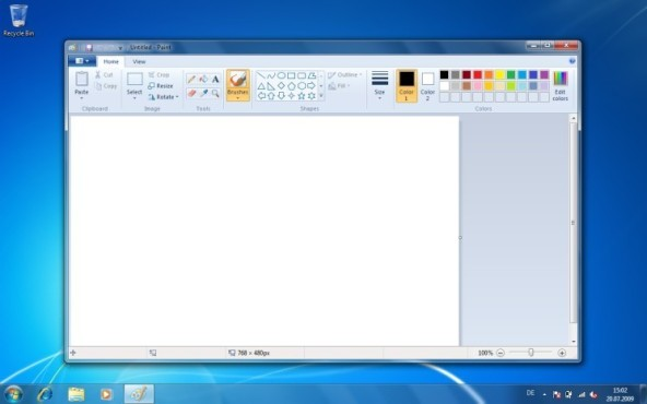 Windows 7: Bildbearbeitung Paint