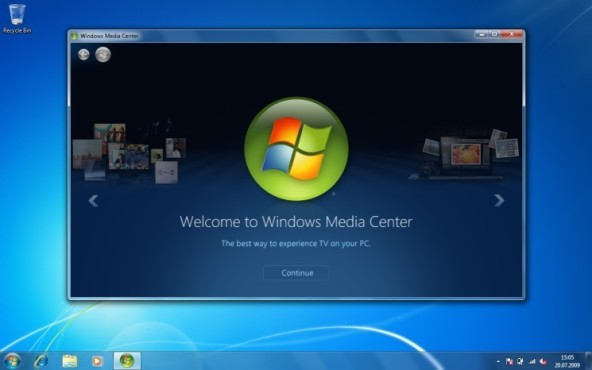 Windows 7: Media Center