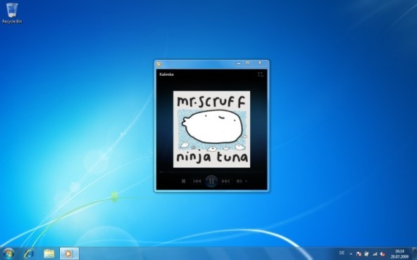 Windows 7: Mini-Ansicht beim WMP