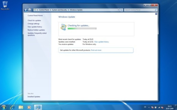 Windows 7: Windows Update