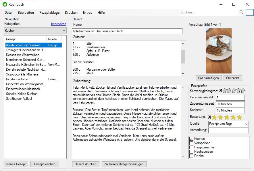 Screenshot 1 - Kochbuch