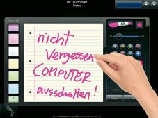 Touchscreen Notiz
