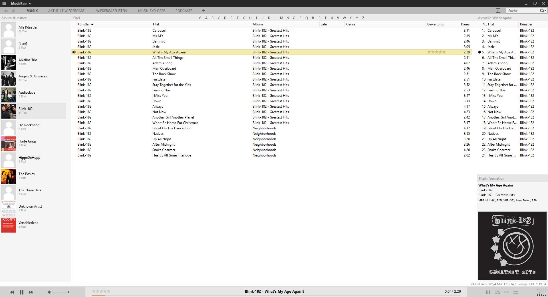 Screenshot 1 - MusicBee