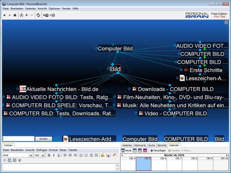 Screenshot 1 - PersonalBrain