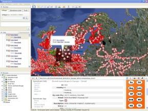 Radarfallenplugin für Google Earth