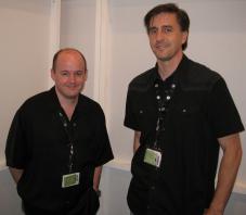 Vorschau: Rage Tom Willits (links) und Matt Hooper präsentierten das Actionspiel auf der Gamescom 2009 in Köln.