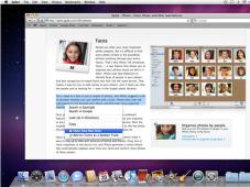 """Apple liefert Betriebssystem Mac OS X Snow Leopard am 28. August aus Äußerlich hat sich zum Vorgänger kaum etwas geändert. Dafür wartet Snow Leopard mit vielen kleinen neuen Funktionen auf. Hier die """"Dienste"""" zum gleichzeitigen Verwenden mehrere Programme."""