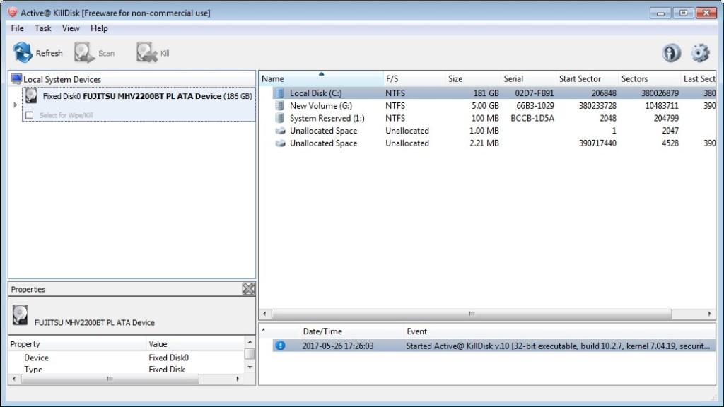 Screenshot 1 - Active KillDisk