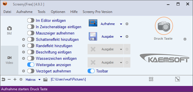 Screenshot 1 - Screeny 4 Free