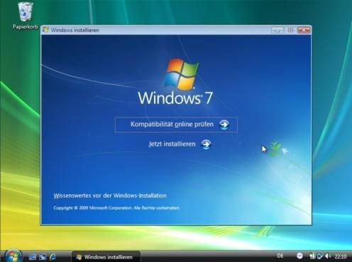Windows 7 installieren ©COMPUTER BILD