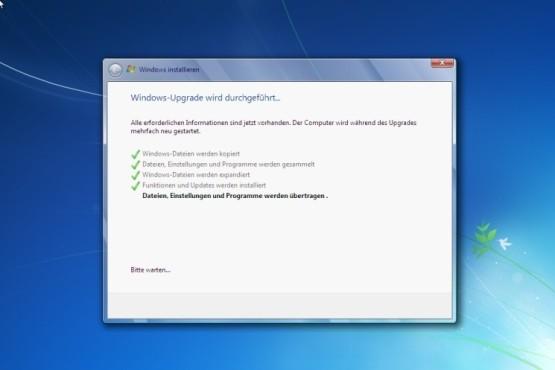 Windows-Upgrade erfolgreich ©COMPUTER BILD