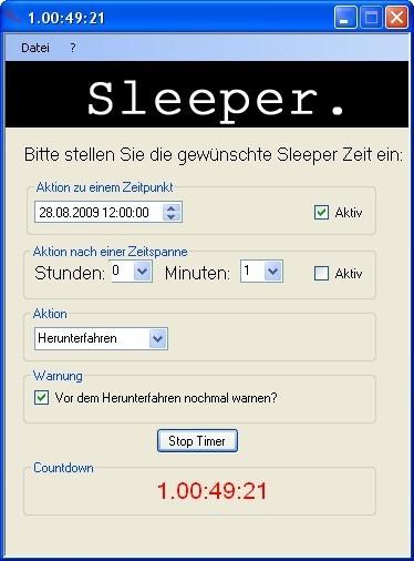 Screenshot 1 - Sleeper
