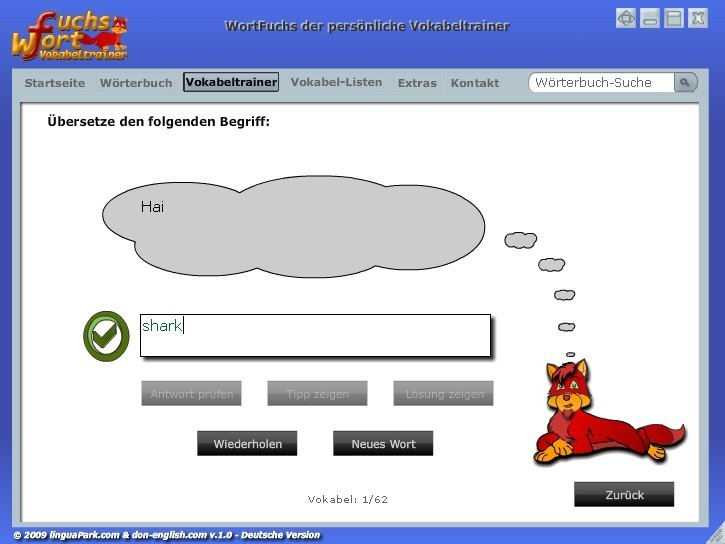 Screenshot 1 - WortFuchs