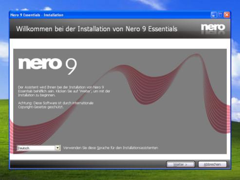 Nero 9 Free: Sprache