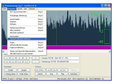 Schnittprogramm MP3DirectCut: Screenshot