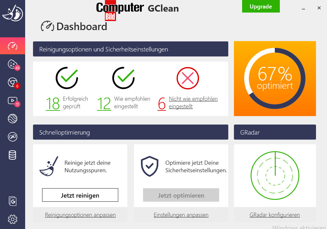 Screenshot 1 - GClean 2021 (COMPUTER BILD-Edition)