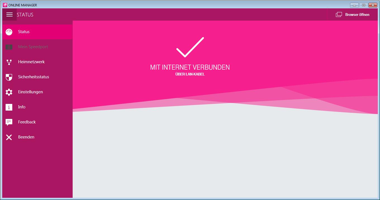 Screenshot 1 - Online-Manager der Telekom