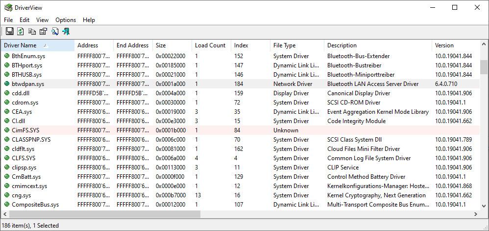 Screenshot 1 - DriverView
