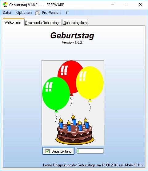Screenshot 1 - Geburtstag