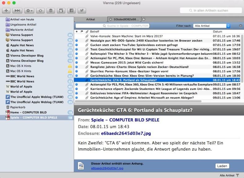 Screenshot 1 - Vienna (Mac)