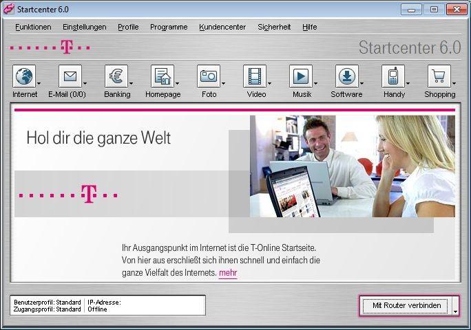 Screenshot 1 - T-Online Software