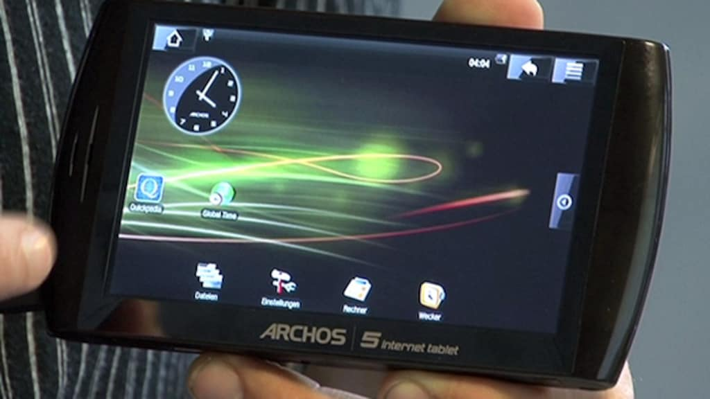 Archos 5 Internet Tablet: Android-Mediaplayer im Video