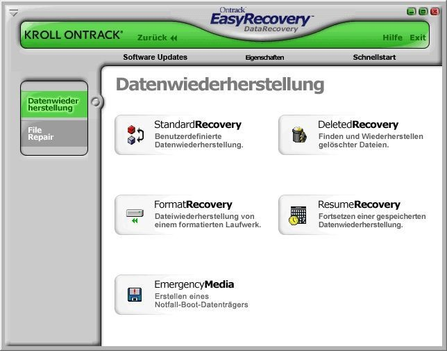 Screenshot 1 - Ontrack EasyRecovery DataRecovery