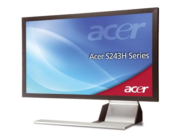 pc monitor acer s234hlbmii computer bild. Black Bedroom Furniture Sets. Home Design Ideas