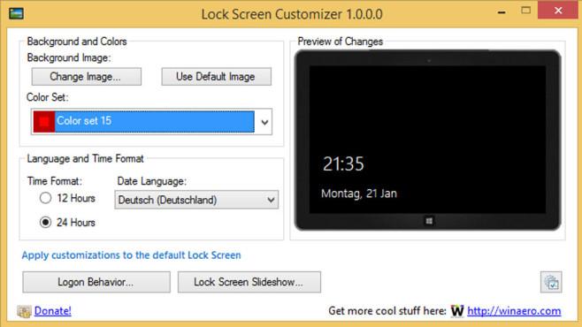 Lock Screen Customizer: Anmeldebildschirm individualisieren ©COMPUTER BILD