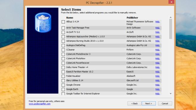 PC Decrapifier: Testversionen löschen ©COMPUTER BILD