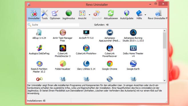 Revo Uninstaller: Software gründlich deinstallieren ©COMPUTER BILD