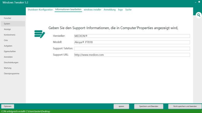 Windows Tweaker: Betriebssystem einstellen ©COMPUTER BILD